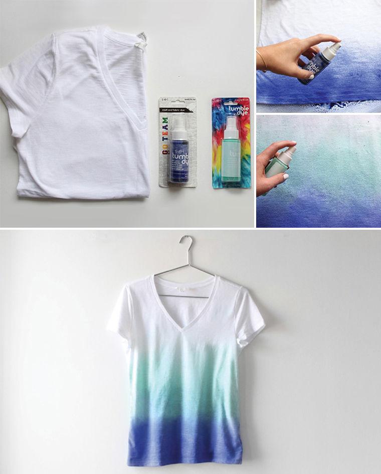 как сделать градиентную футболку