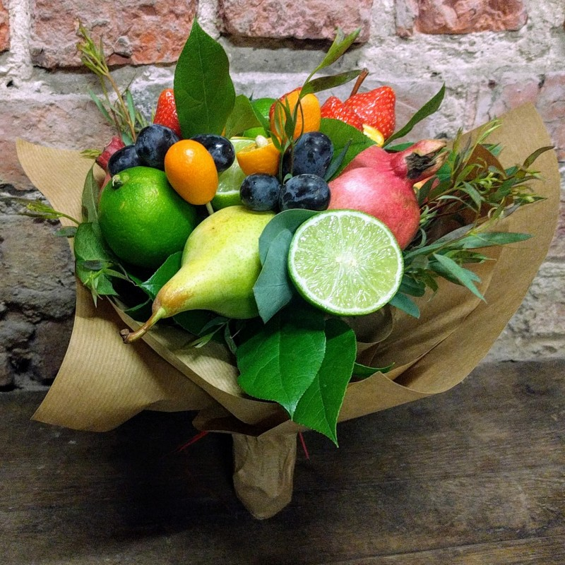 Как оформить фруктовый букет