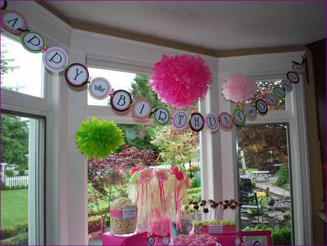 украшение комнаты на день рождение девочки
