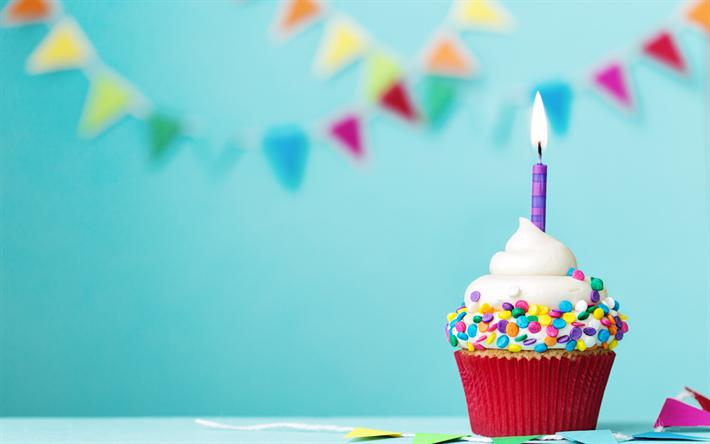 пирожное на день рождение с одной свечкой
