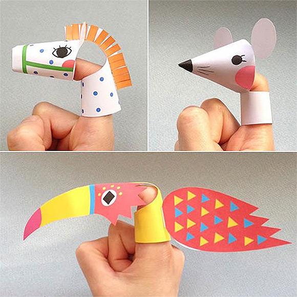 мобильные куклы из бумаги