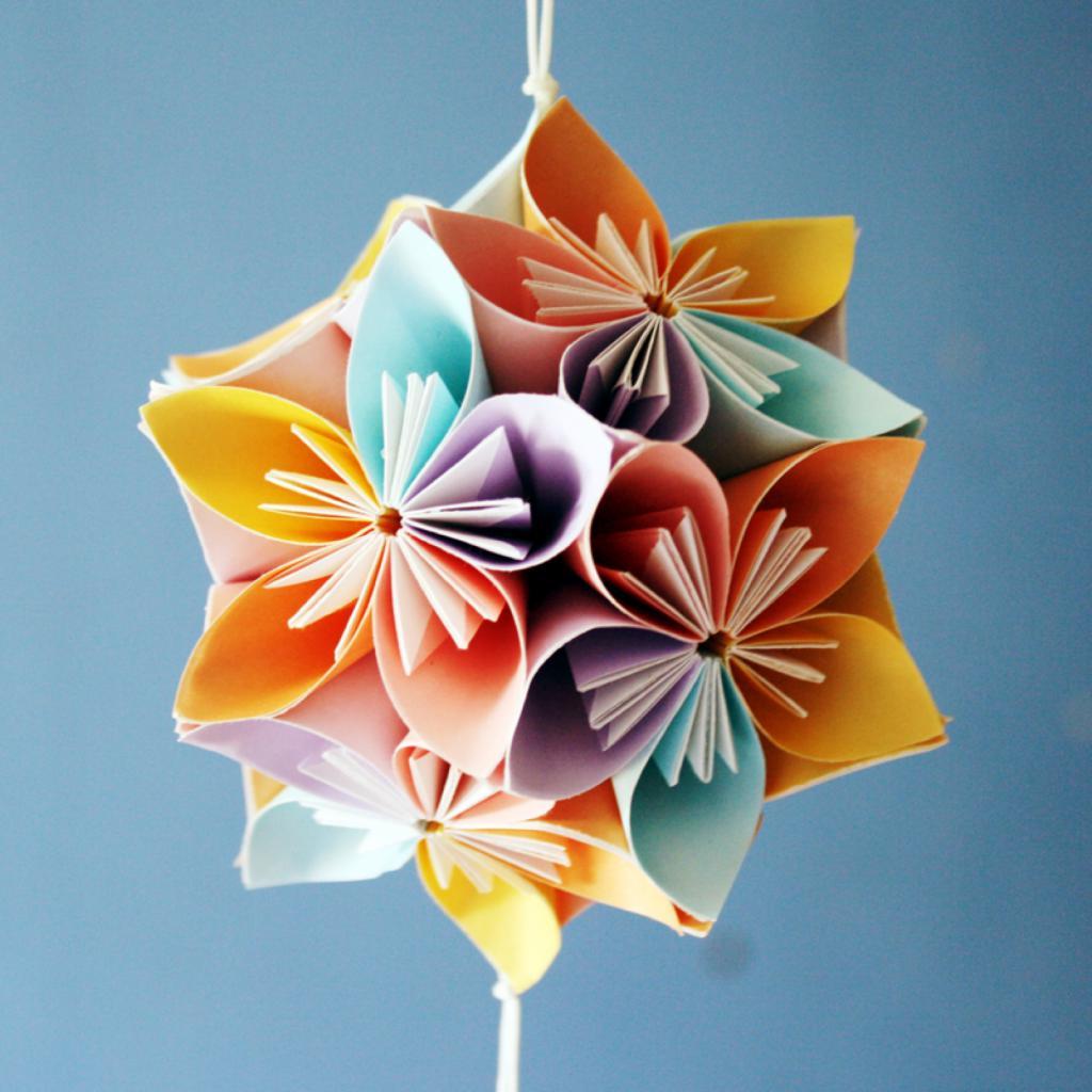 Кудусама цветок из бумаги