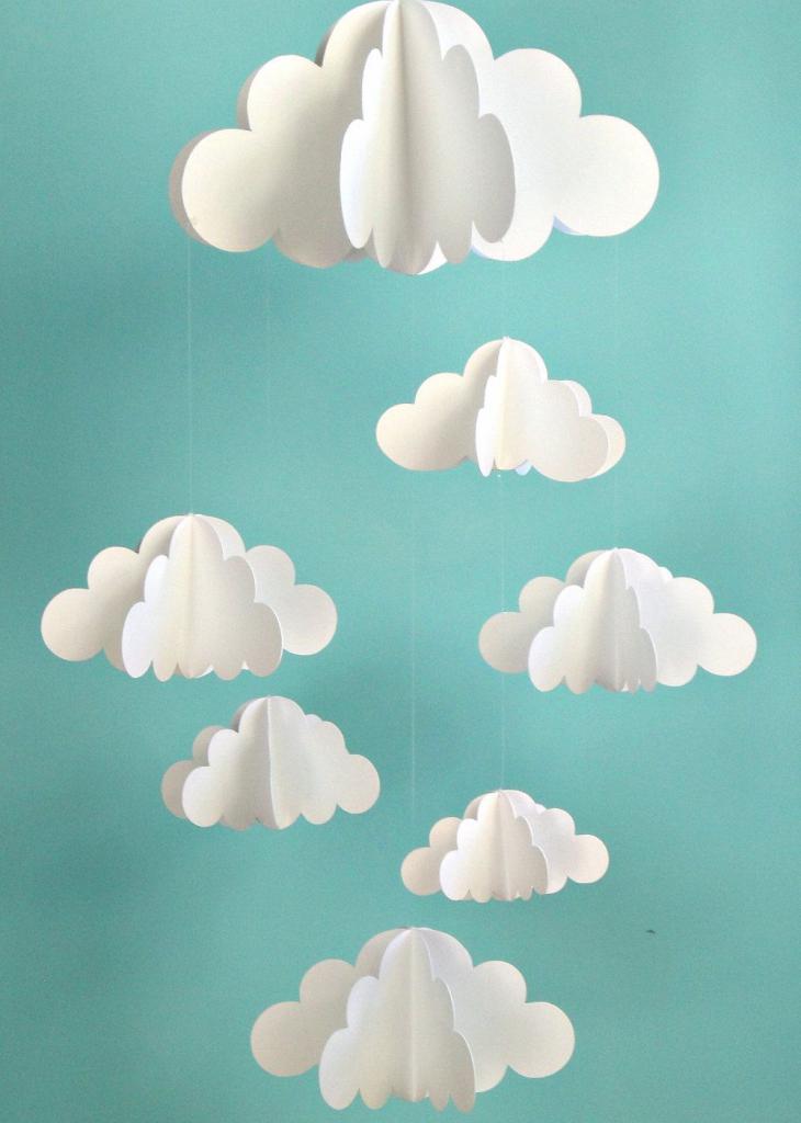 облака из бумаги