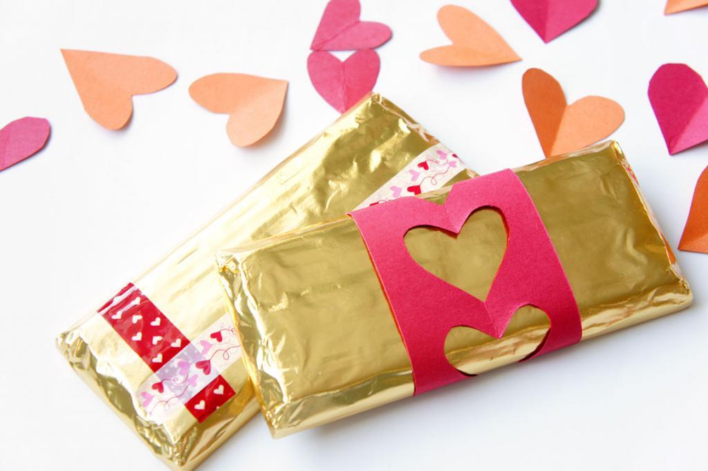 золотая упаковка для шоколадки