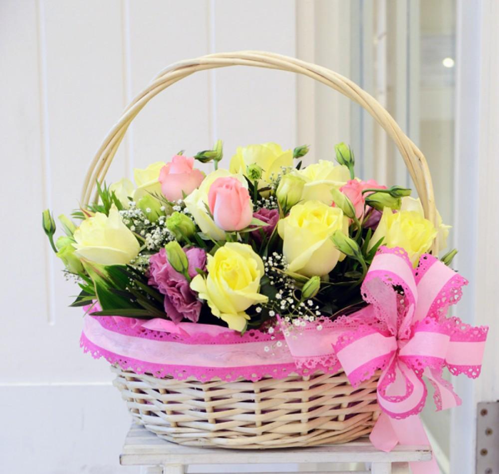 корзина с цветами подарок своими руками
