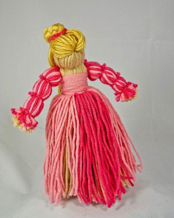 Как сделать из пряжи куклу своими руками