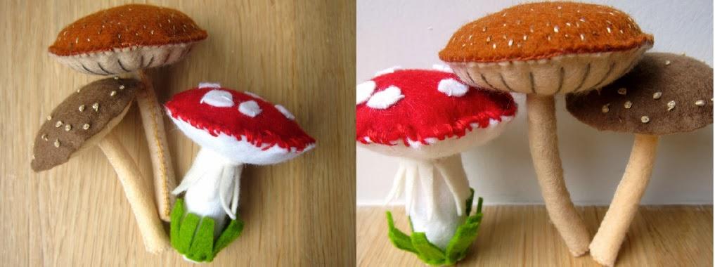 грибы из фетра