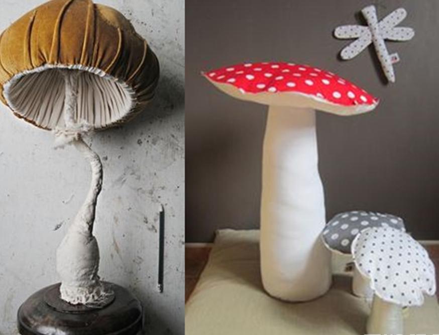 грибы из ткани