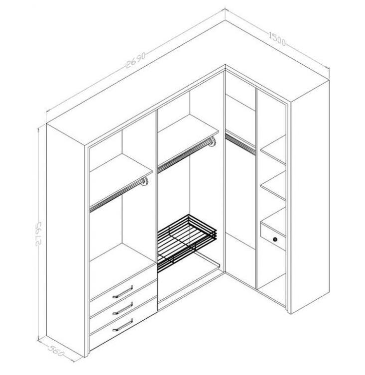 Проект углового шкафа