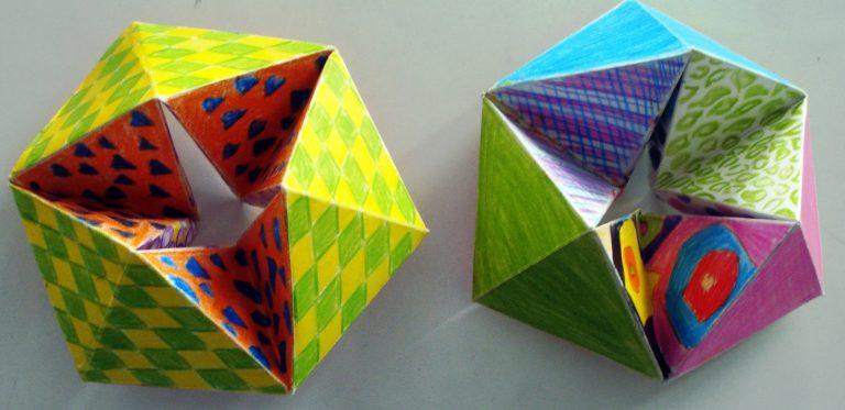 Как сделать оригами открытку перевертыши