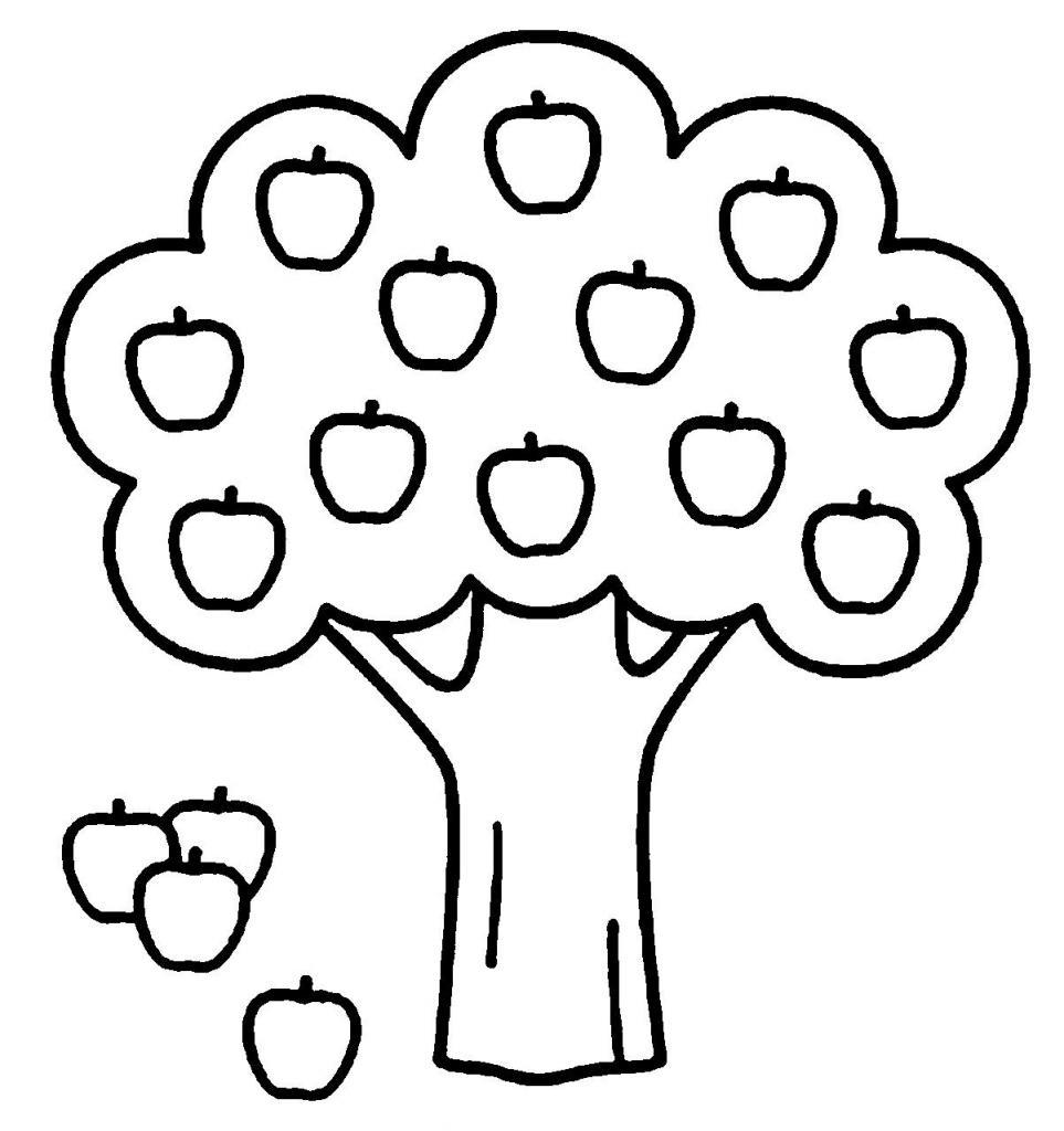 рисование яблони