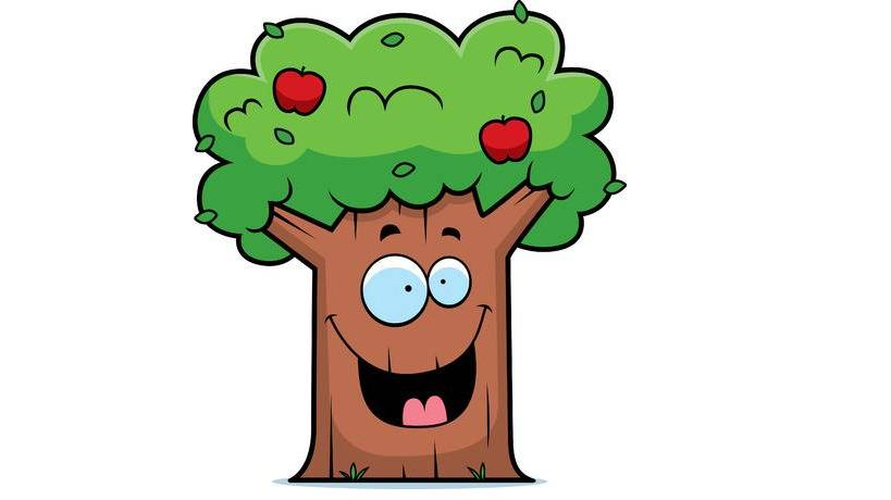 доброе дерево с улыбкой