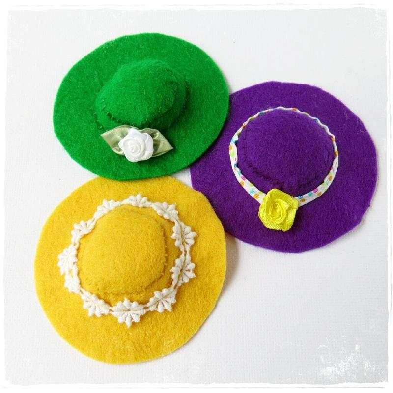 Разноцветные шляпки