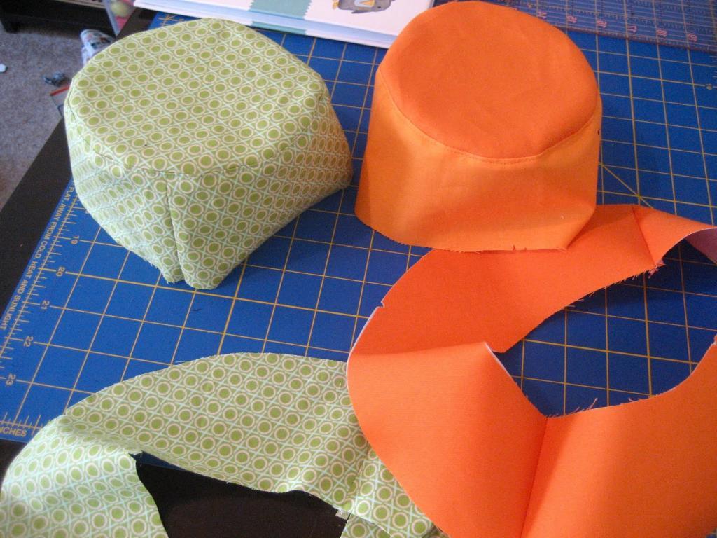 Выкройки шляпок из фетра