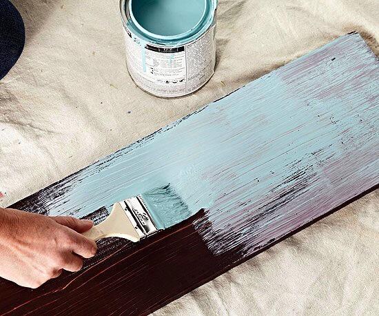 Покраска деревянных досок