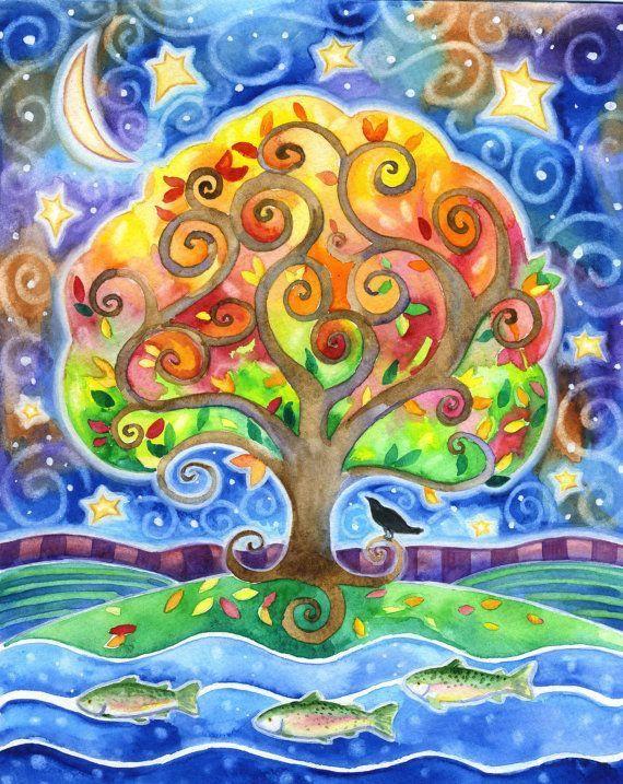 Рисунок сказочные деревья коттеджей уссурийск