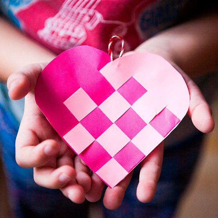 сердце плетением