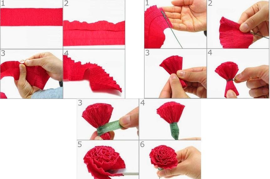 как делать цветы из салфеток на открытку них бьет