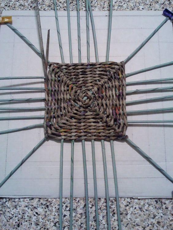 квадратное плетение дна