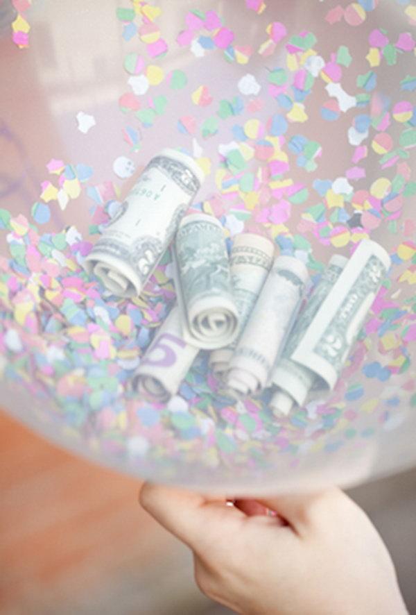 Поздравление на свадьбу шар с деньгами