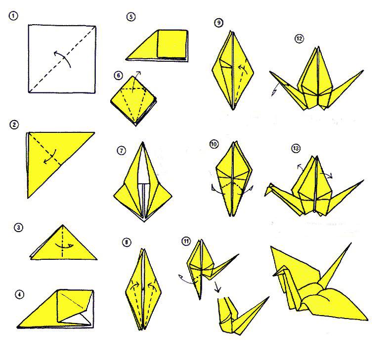 оригами пошаговое фото своими руками журавлик всё уломал секс