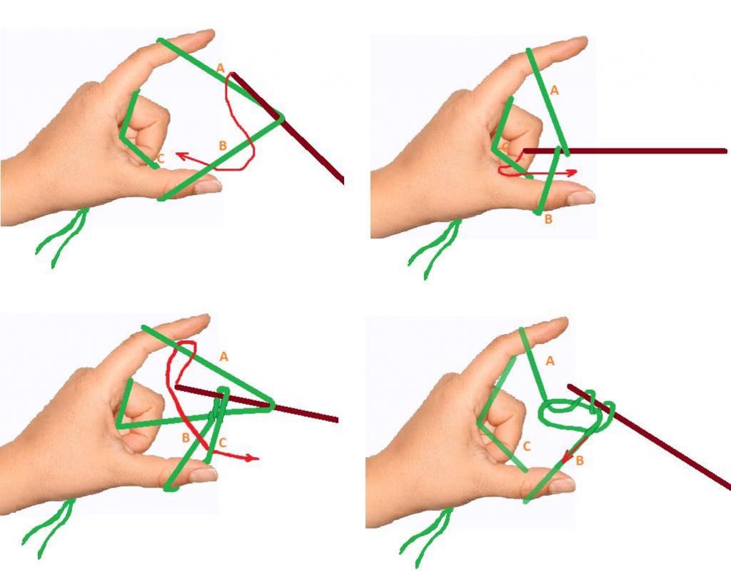 Как набрать петли спицами фото пошагово