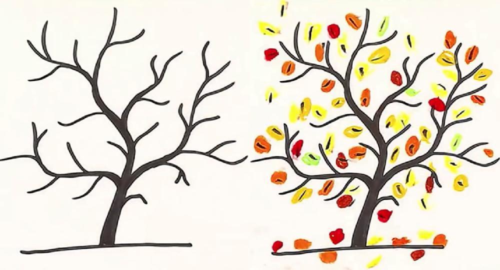 Как нарисовать осеннее дерево: рисунки для детей ...