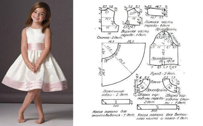Подробная схема платья